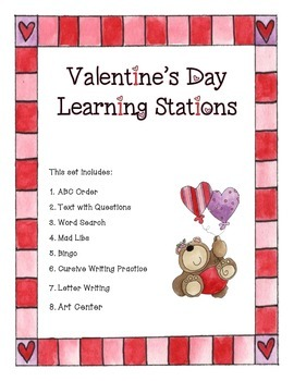 Valentine Activities or Centers