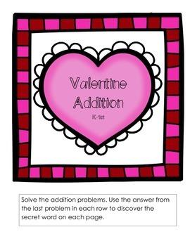 Valentine Addition K-1st