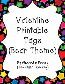 Valentine Bear Tags
