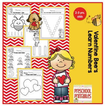 Valentine Bee Learns Numbers 1-10