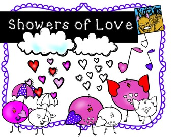 Valentine Birdie Clip Art Showers of Love Kid-E-Clips Comm