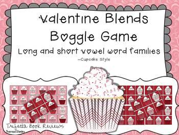 Valentine Blends ~ Long and Short Vowel Boggle Blend Game