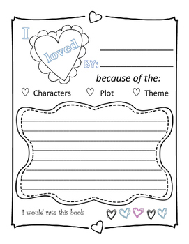 Valentine Book Report