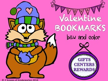 Valentine Bookmarks B&W and Color
