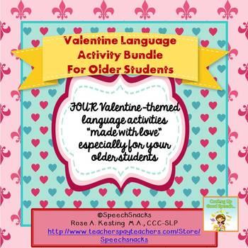 Valentine Bundle: Language Activities for Older Students