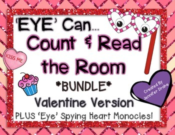Valentine Bundle *'Read the Room' (EDITABLE) & 'Count the