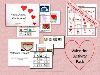 Valentine Activity Pack- Book, Bingo, and recipe with comm
