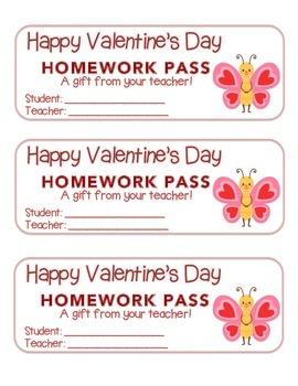 """Valentine"" Butterfly Standing - Homework Pass – FUN! (col"