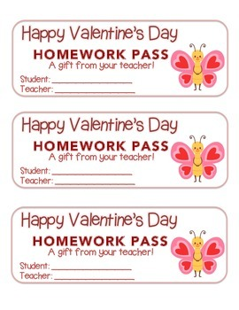 """Valentine"" Butterfly Standing - Homework Pass – Holiday F"