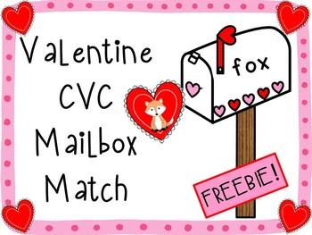 Valentine CVC Mailbox Match {Freebie!}