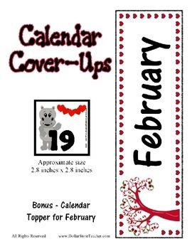 Valentine Calendar Covers featuring Hollis Hippo - 3 desig
