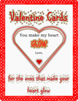 Valentine Cards - You Make My Heart Glow