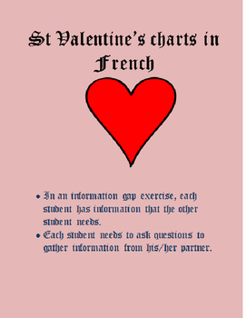 Valentine Charts FRENCH