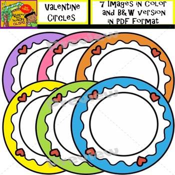 Valentine Circle Borders