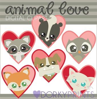 Valentine Clip Art Animal Love
