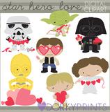 Valentine Clip Art - Star Wars Inspired Valentines Clipart