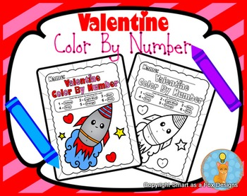 Color by Number Worksheets - Ready to Print and Go! Valent