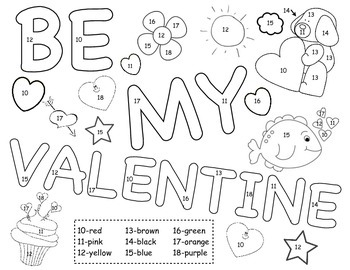 Valentine Color by Numbers