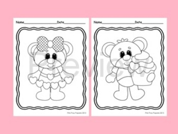 Valentine Coloring Pages - 8 Designs