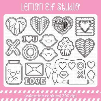 Valentine Cookies-Digital Stamp (LES.DS20)