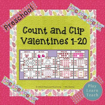 Valentine Count and Clip 1-20