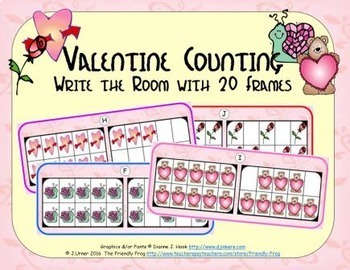 Valentine Counting with 20 Frames {Subitizing}