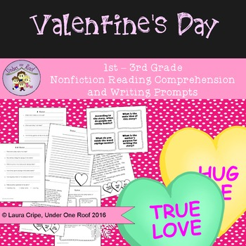 Valentine's Day Close Reading and Creative Writing for Pri