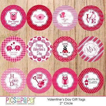 Valentine' Day Gift Tags
