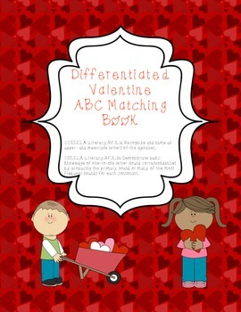 Valentine Letter Sound Printable Matching Book (Common Cor
