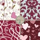 Valentine Digital Papers - No Texture - Love and Hearts Pa