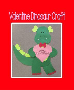 Valentine Dinosaur Craft