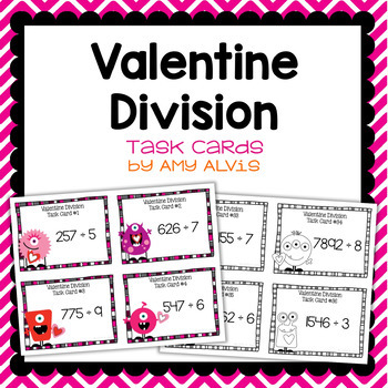 Division Task Cards - Valentine