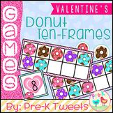 Valentine's Day Donut Ten Frames