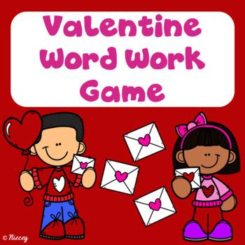 Valentine Word Work Board Game