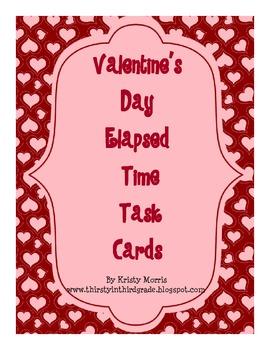 Elapsed Time Valentine Task Cards