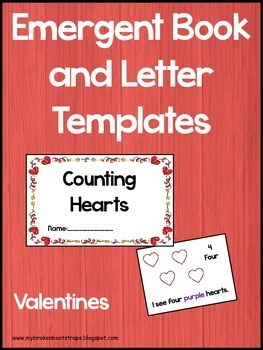 Valentine Emergent Reader and Writing Templates