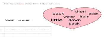 Valentine First Grade Find and Write Smartboard