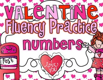 Valentine Fluency Practice {Numbers 0-100}