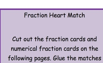 Valentine Fraction Heart Match