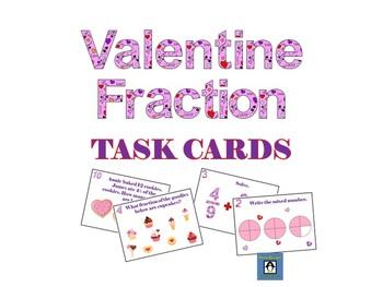 Valentine Fraction Task Cards