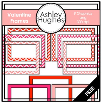 FREE Valentine Frames {Graphics for Commercial Use}