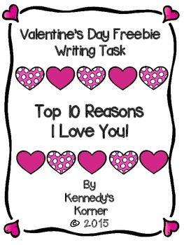 Valentine Freebie Writing Task