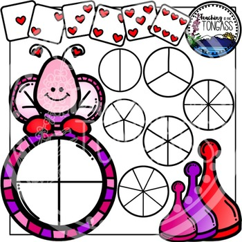 Valentine Spinner Games Clipart Bundle