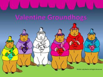 Valentine Groundhogs Clip Art