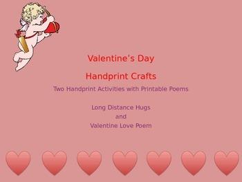 Valentine Handprint Crafts