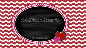 Valentine Heart Addition Puzzle