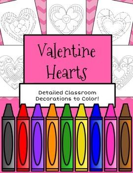 Valentine Coloring Hearts