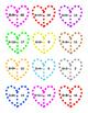 Valentine Heart Puzzles ~ Addition ~ 36 - 2 piece Puzzles