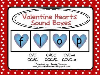 Valentine Heart Sound Boxes FREEBIE