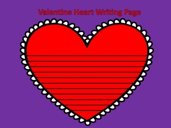 Valentine Heart Writing Page